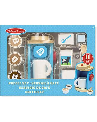 Melissa & Doug Set da Caffè in Legno, 11 pezzi - Ottima idea regalo! Giochi Di Una Volta