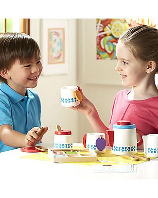 Melissa & Doug Set da Tè in Legno, 22 pezzi - Ottima idea regalo! Giochi Di Una Volta