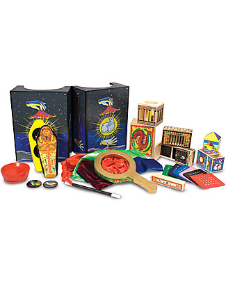 Melissa & Doug Set Deluxe Magic, 10 Trucchi di Magia, 52 Pezzi - Ottima idea regalo! Travestimenti