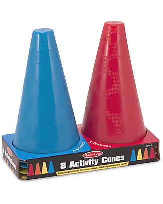 Melissa & Doug Set di 8 Coni - Include guida per giochi all'aperto Giochi all'Aperto