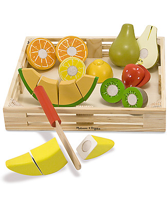 Melissa & Doug Set Frutta in Legno da Affettare - 17 pezzi! Construzioni In Legno
