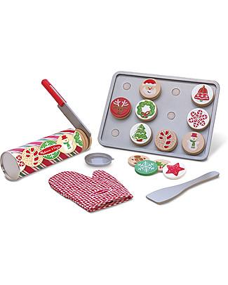 Melissa & Doug Set Giocattolo Biscottini Natalizi - 30 Pezzi Toy Kitchens & Play Food