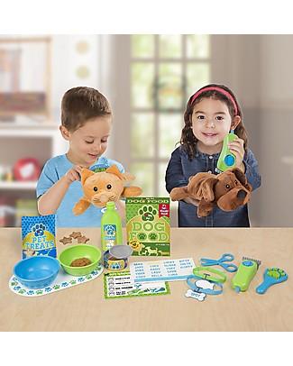 Melissa & Doug Set Gioco Cura degli Animali - Con 24 pezzi inclusi gattino e cagnolino di pezza! Giochi Per Inventare Storie