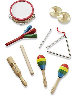 Melissa & Doug Set Musica 'Tutta la Banda' - 8 strumenti musicali in scatola di legno Strumenti Musicali