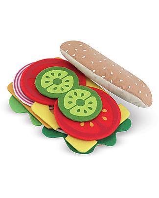 Melissa & Doug Set Sandwich in Feltro - 33 Pezzi Toy Kitchens & Play Food