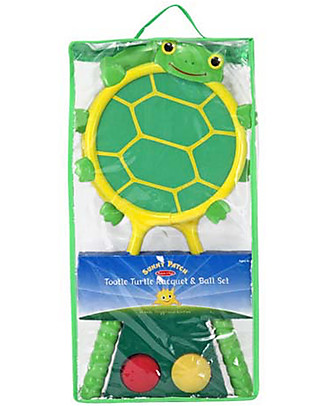 Melissa & Doug Set Tennis, Tartarughe – Ottima idea per l'estate! Giochi all'Aperto