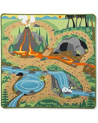 Melissa & Doug Tappeto Gioco Terra dei Dinosauri - 4 Dinosauri Tappeti Gioco