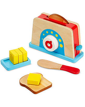 Melissa & Doug Tostapane in Legno – Con timer funzionante! Toy Kitchens & Play Food