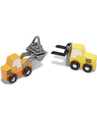 Melissa & Doug Veicoli del Cantiere in Legno, 8 pezzi con scatola - Ottima idea regalo! Macchine e Trenini  in Legno