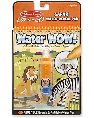 Melissa & Doug Water Wow Safari - 4 cards with refillable water pen! Colouring Activities