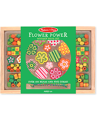 Melissa & Doug Wooden bead set - Flower Power Belts