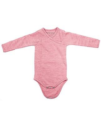 Merino Kids Body Maniche Lunghe - Lampone - 100% Lana Merino Bio: calda a non pizzica! Body Manica Corta