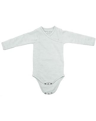 Merino Kids Body Maniche Lunghe - Tortora - 100% Lana Merino Bio: calda a non pizzica! Body Manica Corta