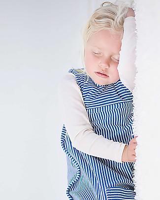 Merino Kids Sacco Nanna Go Go Bag™ Blu Banbury (2 - 4 anni) - 100% Lana Merino Naturale e Cotone Bio Sacchi Nanna Pesanti