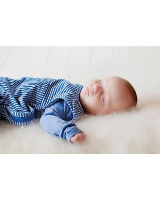 Merino Kids Sacco Nanna Go Go Bag™ Blu Banbury (Nascita - 2 anni) - 100% Lana Merino Naturale e Cotone Bio Sacchi Nanna Pesanti