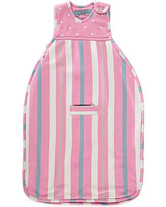 Merino Kids Sacco Nanna Go Go Bag™ Notti Fredde - Rosa Chiaro (2-4 anni) - 100% Lana Merino Naturale e Cotone Bio Sacchi Nanna Pesanti