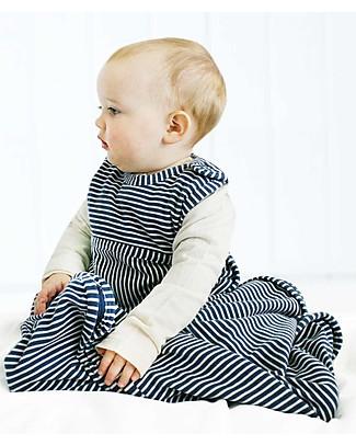 Merino Kids Sacco Nanna Go Go Bag™ Righe Blu Navy (Nascita - 2 anni) - 100% Lana Merino Naturale e Cotone Bio Sacchi Nanna Pesanti