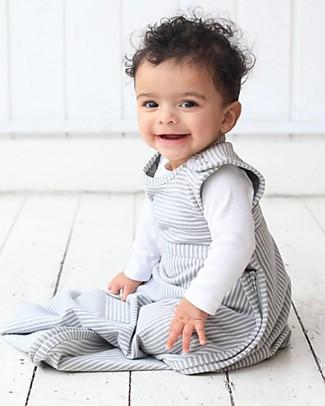Merino Kids Sacco Nanna Medio, 0-2 anni - 100% Lana Merino Naturale e Cotone Bio - Tortora - Go Go Bag Sacchi Nanna Pesanti