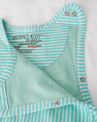 Merino Kids Sacco Nanna Medio, 2-4 anni - 100% Lana Merino Naturale e Cotone Bio - Wildflower Acqua - Go Go Bag Sacchi Nanna Pesanti