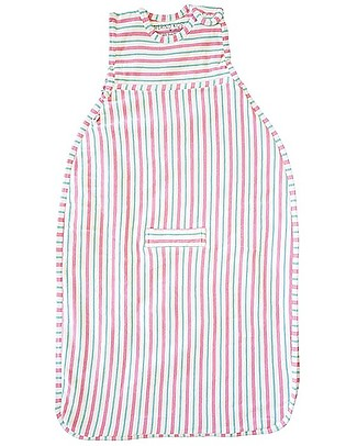 Merino Kids Sacco Nanna Pesante Go Go Bag™ Duvet (0-2 anni) – Collezione Wildflower - Righe Rosa e Acqua - 100% Lana Merino Naturale e Cotone Bio Sacchi Nanna Pesanti
