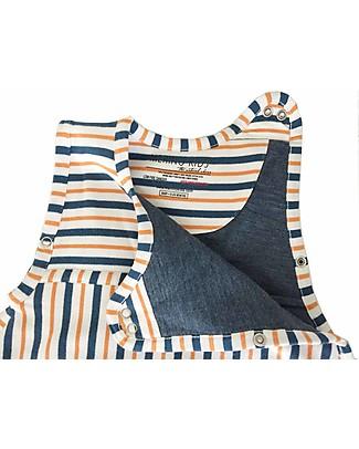 Merino Kids Sacco Nanna Pesante Go Go Bag™ Duvet (2-4 anni)– Collezione Wildflower - Righe Blu Navy e Mandarino - 100% Lana Merino Naturale e Cotone Bio Sacchi Nanna Pesanti