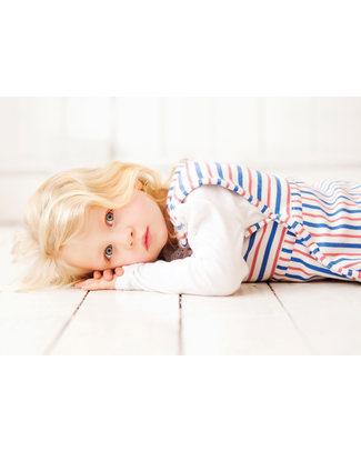 Merino Kids Sacco Nanna Pesante Go Go Bag™ Duvet Righe Blu e Lampone (2 - 4 anni) - 100% Lana Merino Naturale e Cotone Bio Sacchi Nanna Pesanti