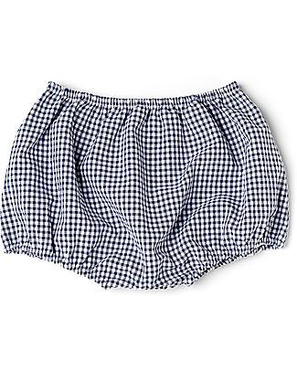 Mia Bu Milano Copripannolino Bloomer Bimbo, Vichy Blu - In confezione regalo, con fiaba inclusa! Costumi a Pantaloncino