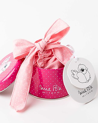 Mia Bu Milano Costume Bimba con Fiocchi, Rosa/Pois – In confezione regalo, con fiaba inclusa! Costumi a Pantaloncino