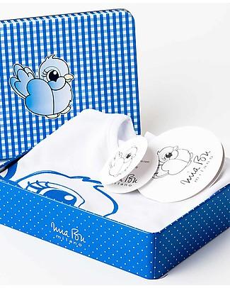 Mia Bu Milano T-Shirt Bimbo, Usignolo Azzurro – In confezione regalo, con fiaba inclusa! T-Shirt e Canotte