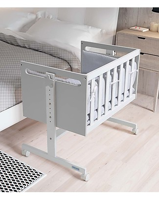 Micuna Mini-Culla e Co-sleeping You&Me, Grigio - Diventa Scrivania o Divano Culle Co-Sleeping