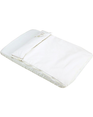 Micuna Tessili per Culla Cododo, Bianco - Set di paracolpi e lenzuola! Culle e Ceste