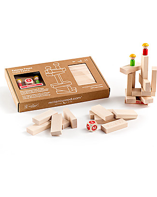 Milani Wood Palazzo Pazzo, Gioco di Costruzioni ed Equilibrio - Legno. Ottima idea regalo! Construzioni In Legno