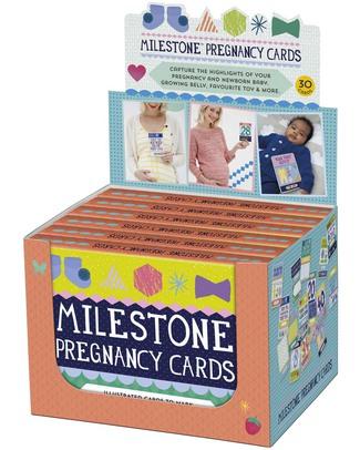 """Milestone Baby Cards Cartoline """"Dolce Attesa"""" - MILESTONE™ - Set di 30 Cartoline - TESTO IN INGLESE - Regalo perfetto per la mamma in attesa!  Album Dei Ricordi"""