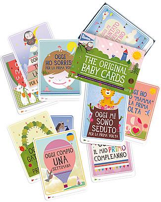 """Milestone Baby Cards Cartoline """"Prime Tappe Importanti"""" - Milestone Baby Cards -TESTO IN ITALIANO- Regalo di Nascita Perfetto!  Album Dei Ricordi"""