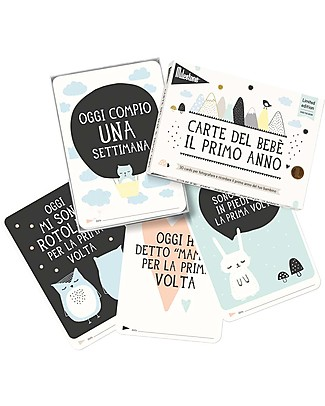 "Milestone Baby Cards Cartoline Prime Tappe ""Over the Moon"" - Milestone Baby Cards -TESTO IN ITALIANO - Regalo di Nascita Perfetto!  Album Dei Ricordi"