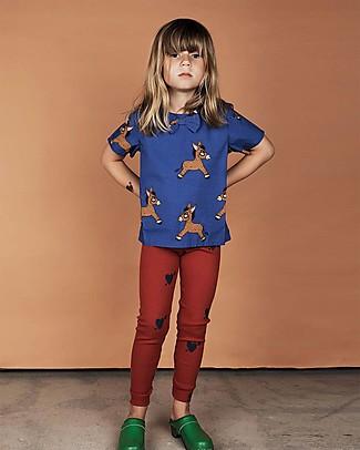 Mini Rodini Blusa Asini, Blu - 100% Cotone bio T-Shirt e Canotte