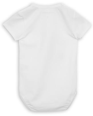 Mini Rodini Body Maniche Corte Rana, Bianco - Cotone bio elasticizzato Body Manica Corta