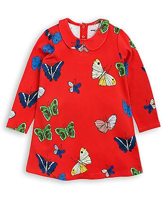 Mini Rodini Butterflies Collar Dress, Red – Organic cotton Dresses