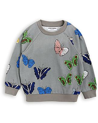 Mini Rodini Butterfly Sweater, Dark Grey - Organic cotton Sweatshirts