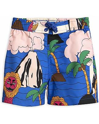 Mini Rodini Costume Bimbo Mostri Marini - 100% Tessuto Riciclato Costumi a Pantaloncino