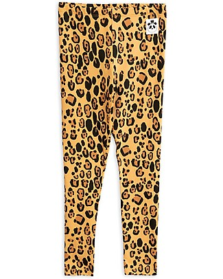 Mini Rodini Leggings Basic Leopard, Beige - Tencel Leggings