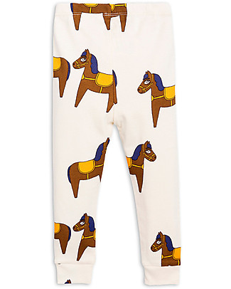 Mini Rodini Leggings Cavallo Panna - 100% Cotone bio, eco-friendly! Leggings