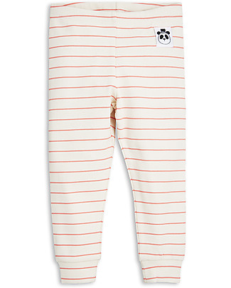 Mini Rodini Leggings Righe, Rosa - Cotone bio Leggings