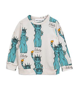 Mini Rodini Maglia a Maniche Lunghe Liberty, Grigio chiaro - In fibra di eucalipto! Felpe