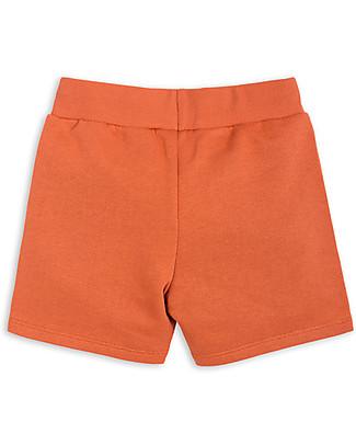 Mini Rodini Pantaloni Corti, Asino/Cactus, Arancione - 100% Cotone Bio Pantaloni Corti