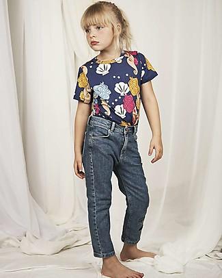 Mini Rodini T-Shirt Cavallucci Marini, Blu - Tencel T-Shirt e Canotte
