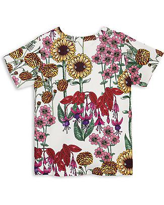 Mini Rodini T-Shirt Garden, Panna/Multicolore - Cotone Bio T-Shirt e Canotte