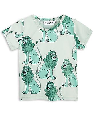 Mini Rodini T-Shirt Leoni, Verde Chiaro - Cotone Bio T-Shirt e Canotte