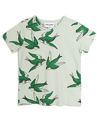 Mini Rodini T-Shirt Rondini Maniche Corte, Verde - Cotone Bio Elasticizzato! T-Shirt e Canotte