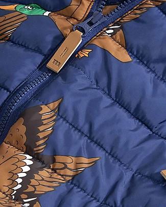 Mini Rodini Tuta Termica Invernale Imbottita Ducks, Blu - 100% Tessuto Riciclato Cappotti
